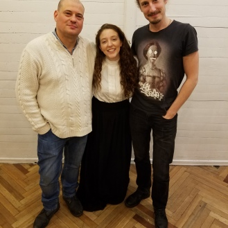 Post-Performance with professors and directors Oleg Topolyanskiy and Mikhail Milkis.