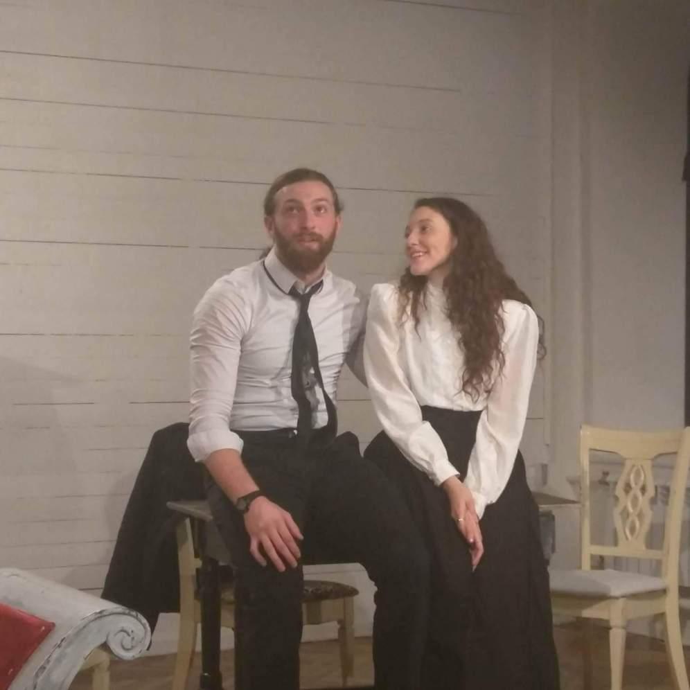 During the scene between Sonya (myself) and Astrov (Mehmet Aksoy)