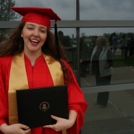 I had to post at least one shot from graduation! After all, I worked hard to get that degree. Photo taken by Corinne Gahan.
